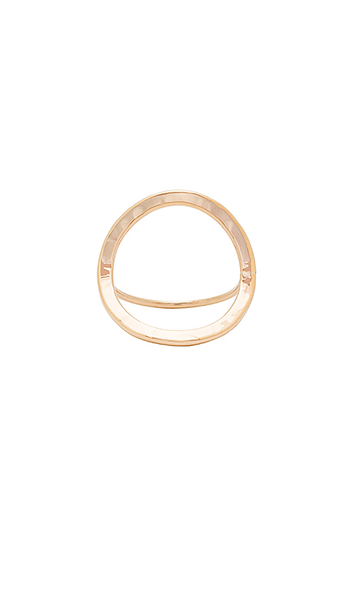 Paradigm Open Circle Ring in Metallic Gold. - size 6 (also in 7)