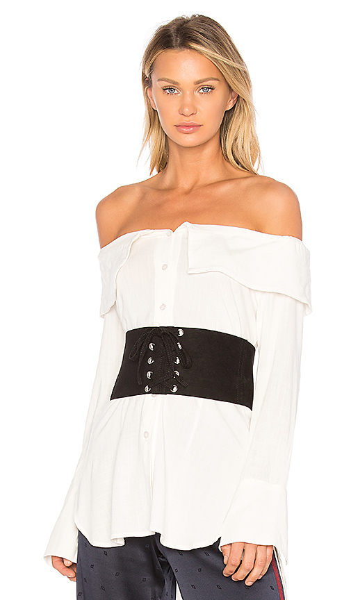 PAIGE Rosalie Corset Belt in Black