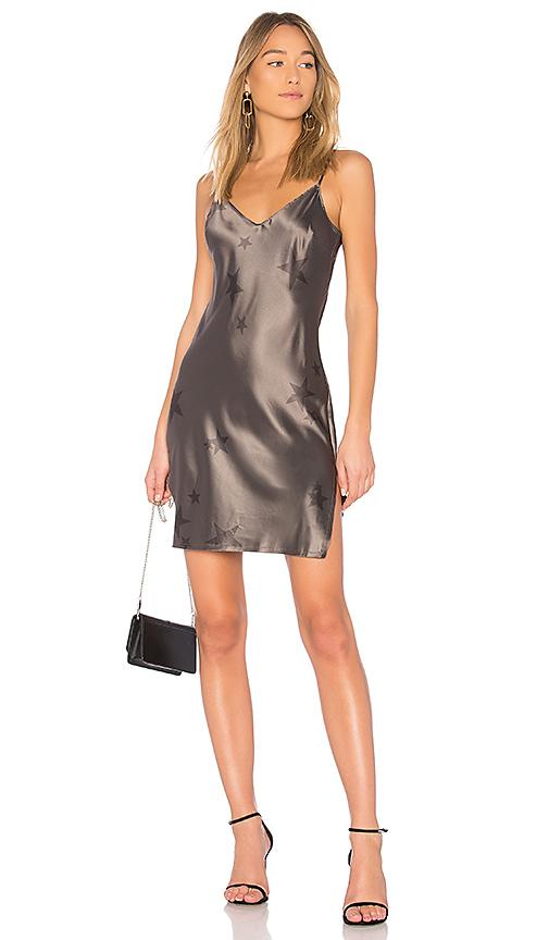 Pam & Gela Star Slip Dress in Charcoal
