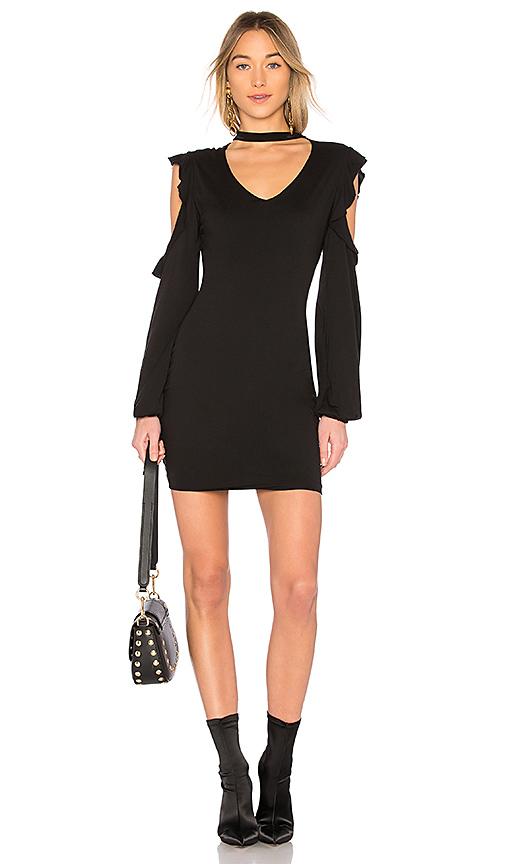 Pam & Gela Choker Dress in Black