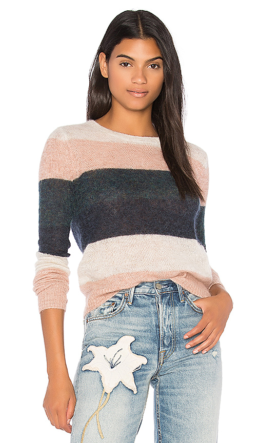 Pam & Gela Multi Stripe Sweater in Pink. - size L (also in M,S,XS)