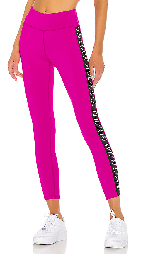 Pam & Gela Solid Legging in Fuchsia. - size M (also in L,S,XS)