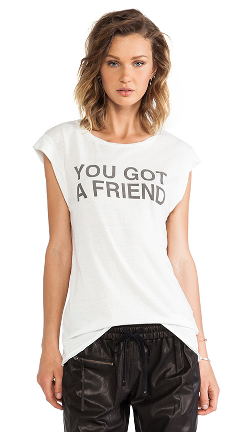 Sale alerts for Pam & Gela You Got A Friend Twisted Seam Muscle Tee - Covvet