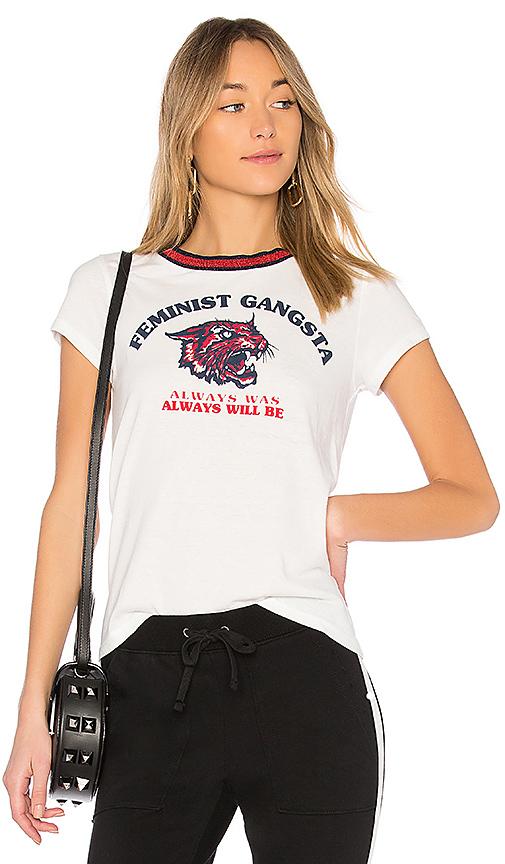 Pam & Gela Feminist Gangster Tee in White