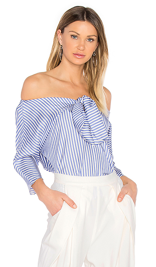 Paper London Knot Top in Blue