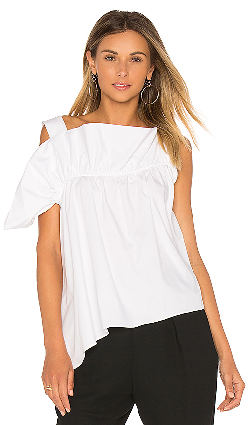 Paper London Flute Top in White