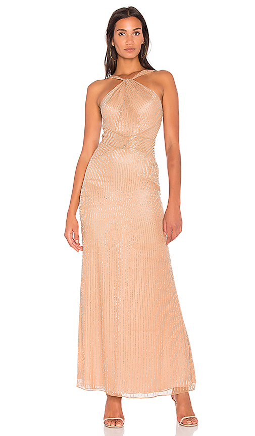 Parker Black Lara Gown in Nude