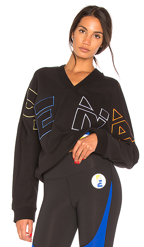 P.E Nation Long Shot Sweatshirt in Black. - size L (also in M,S,XS)