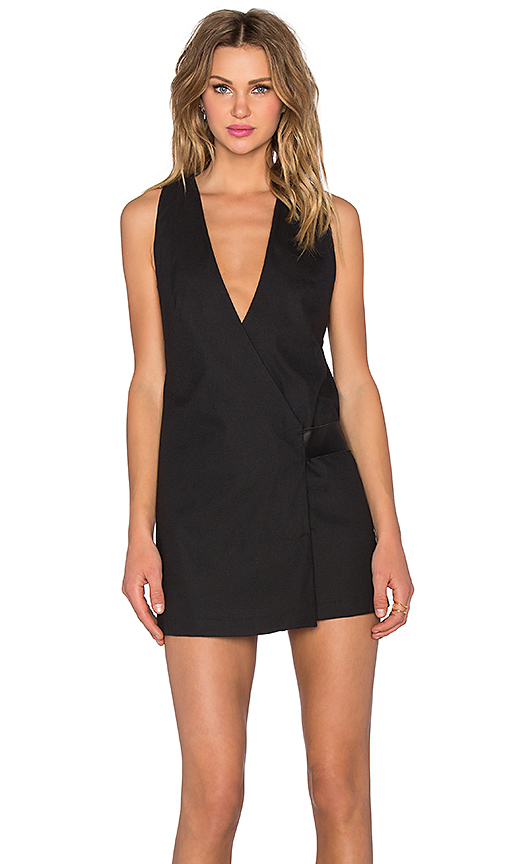 PFEIFFER Viper Wrap Dress in Black. - size M (also in S)