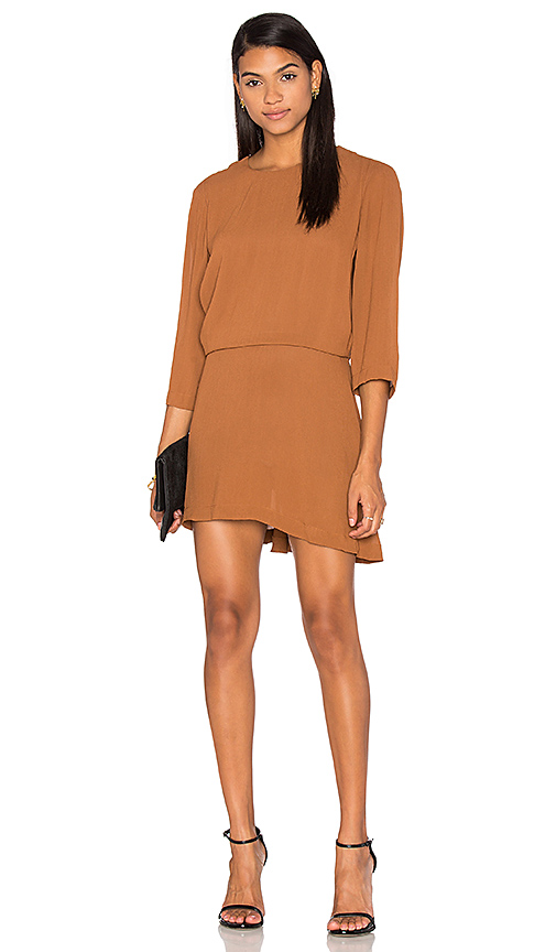 PFEIFFER The Ray Open Back Dress in Brown