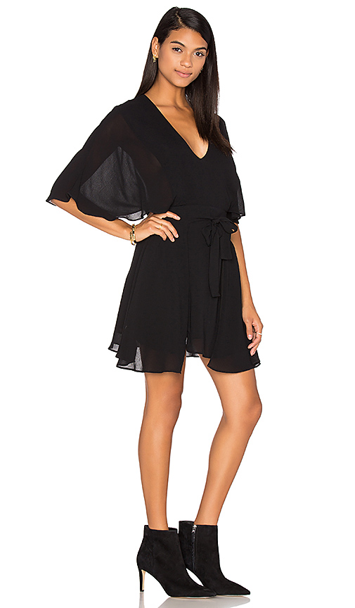 PFEIFFER The Ray Wrap Dress in Black. - size L (also in M,S,XS)