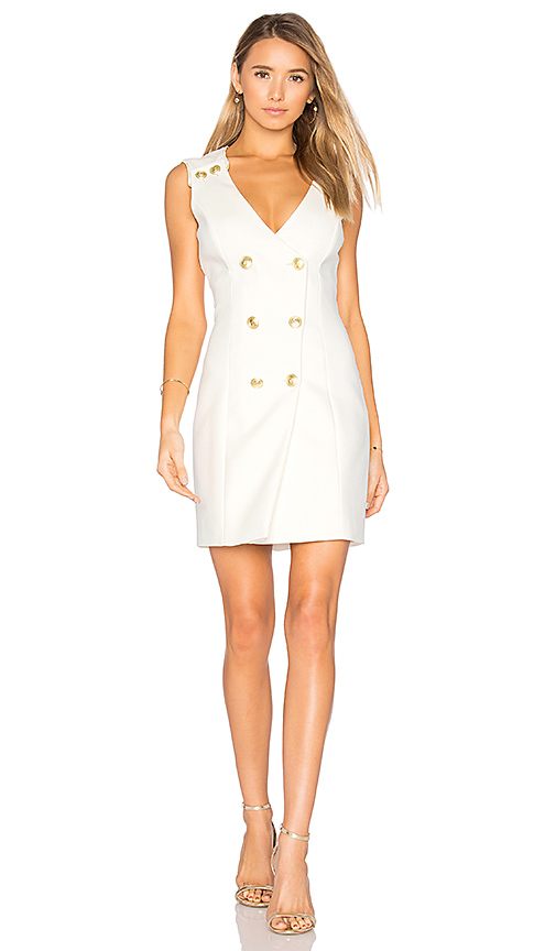 Pierre Balmain Double Breasted Wrap Dress in White. - size 36/2 (also in 42/8)