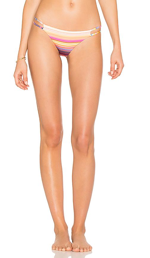 PILYQ Reversible String Bikini Bottom in Pink