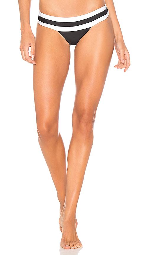 PILYQ Banded Bikini Bottom in Black & White