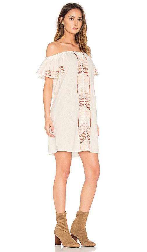 PIPER Bogo Off the Shoulder Dress in Cream. - size L (also in M,S)