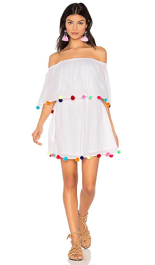 Pitusa Pom Pom Festival Dress in White