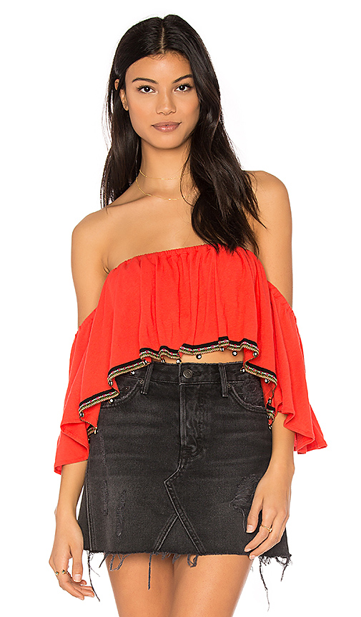 Pitusa Salsa Top in Red