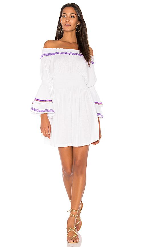Pitusa Smocking Dress in White