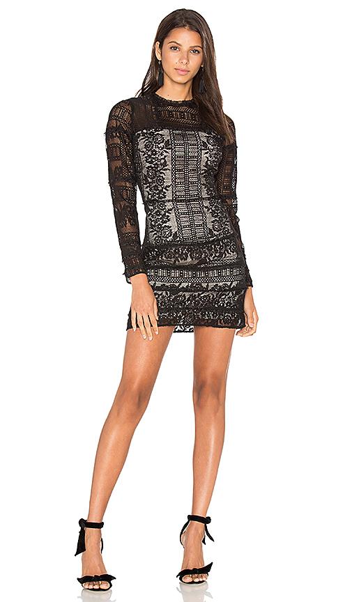 Parker Julie Combo Dress in Black