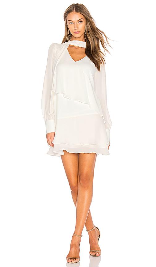 Parker Kenji Combo Dress in White