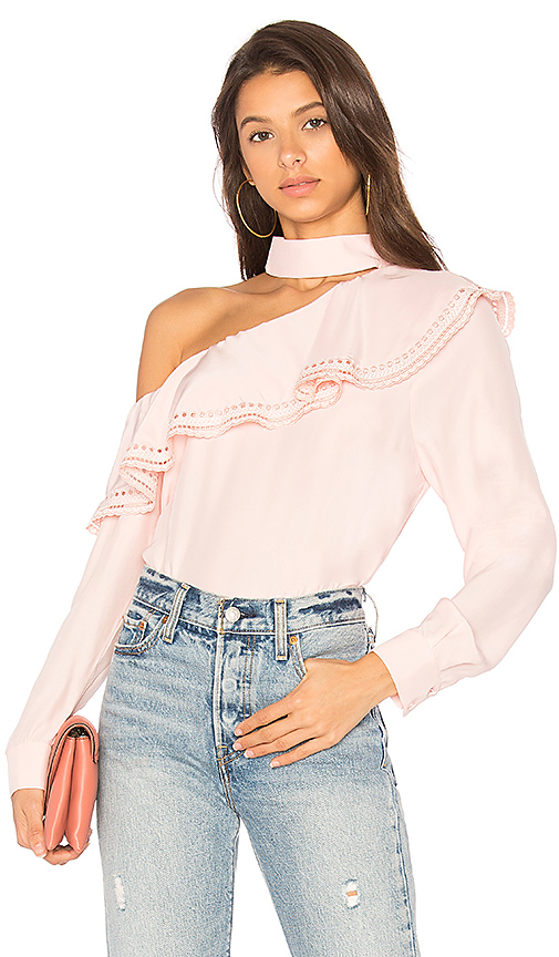 Parker Bellini Blouse in Pink. - size L (also in M,S,XS)