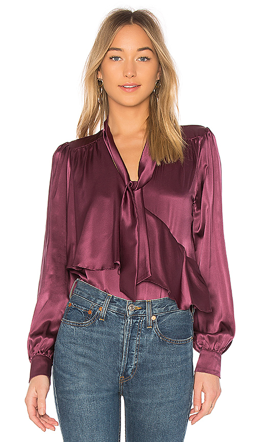 Parker Kinsley Blouse in Purple. - size L (also in M,S,XS)