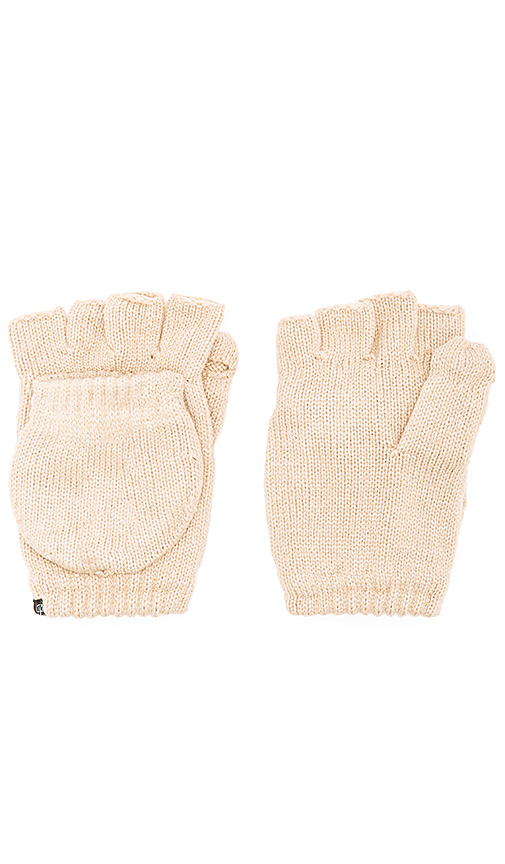 Plush Fleece Lined Texting Mittens in Beige