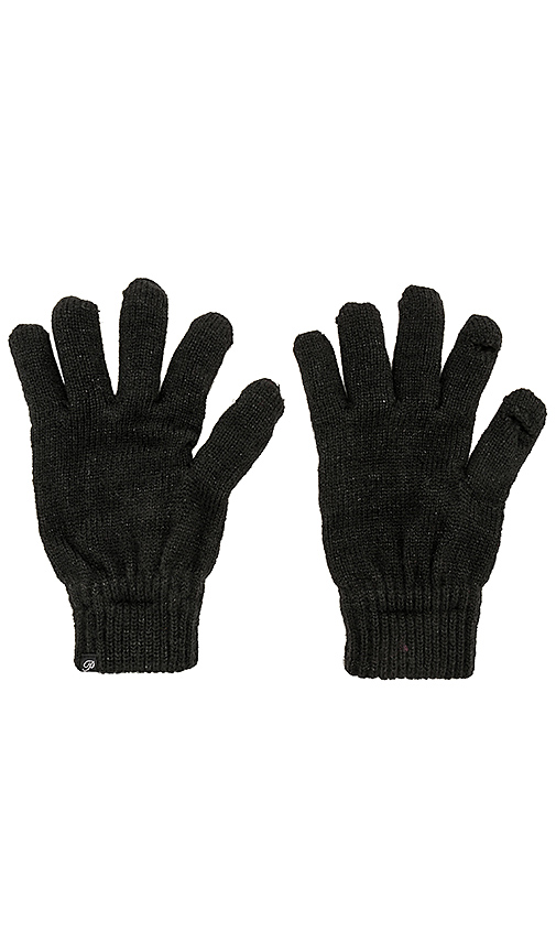 Plush Metallic Smartphone Gloves in Black