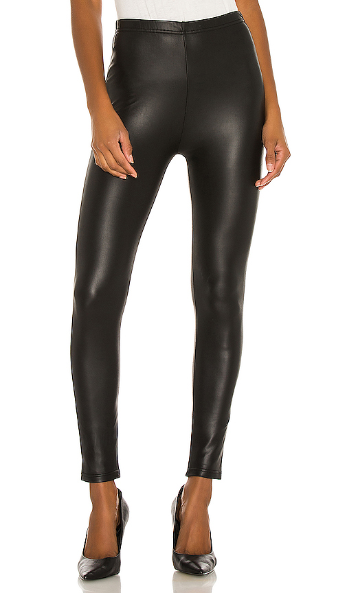 Plush Fleece Lined Liquid Legging in Black. - size M (also in L,S,XS)