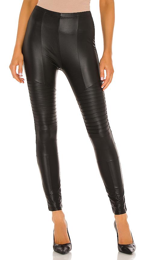 Plush Fleece Lined Liquid Moto Legging in Black. - size M (also in L,S,XS)