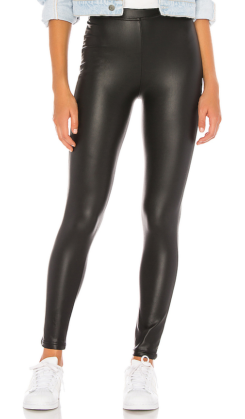 Plush Fleece Lined High Waisted Liquid Legging in Black. - size M (also in L,S,XS)