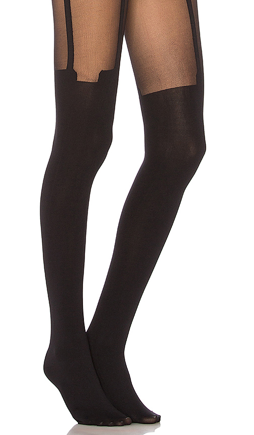 Pretty Polly House of Holland Super Suspender Tights in Black