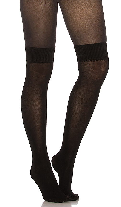 Pretty Polly Secret Sock Tights in Black