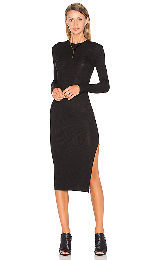 Privacy Please Midway Dress in Black