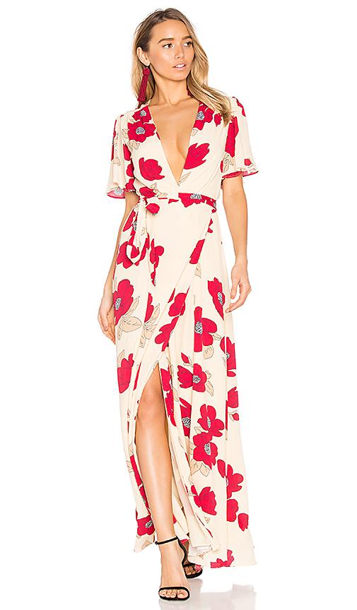 Privacy Please Kimono Dress in Beige
