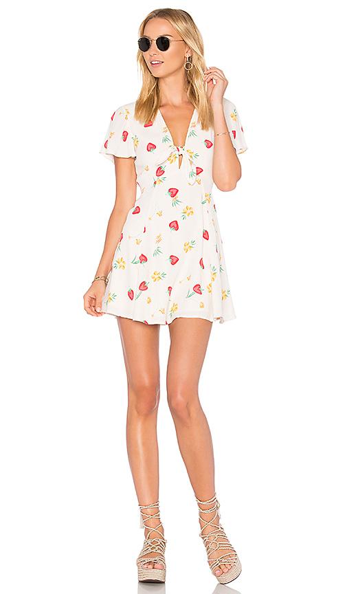 Privacy Please Dixie Mini Dress in Cream