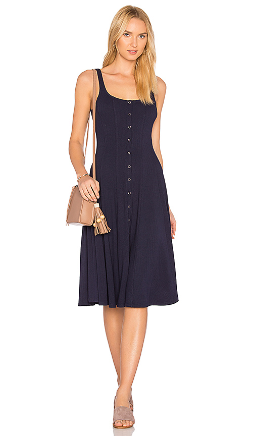 Privacy Please Andrews Dress in Navy