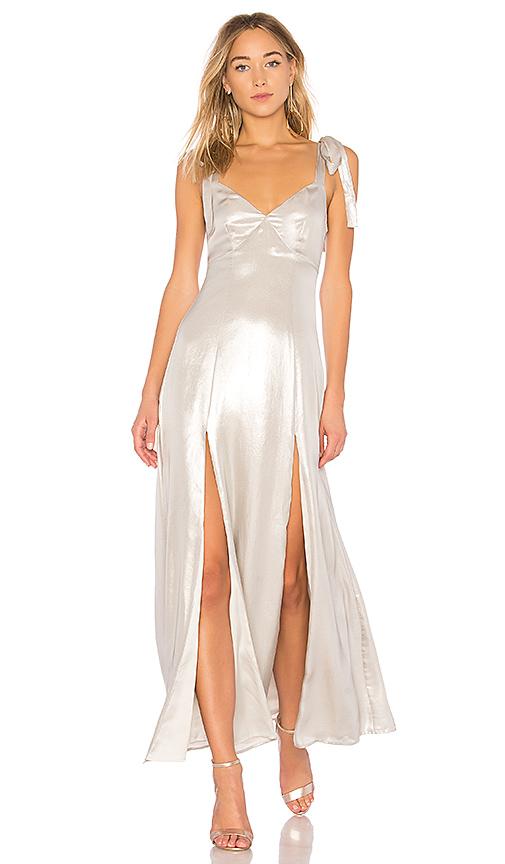 Privacy Please X REVOLVE Jupiter Dress in Metallic Silver