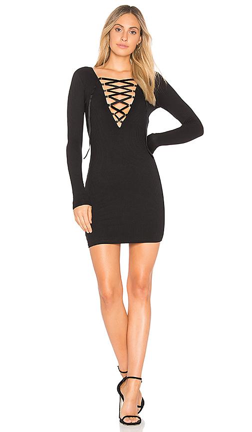 Privacy Please Glendale Mini Dress in Black