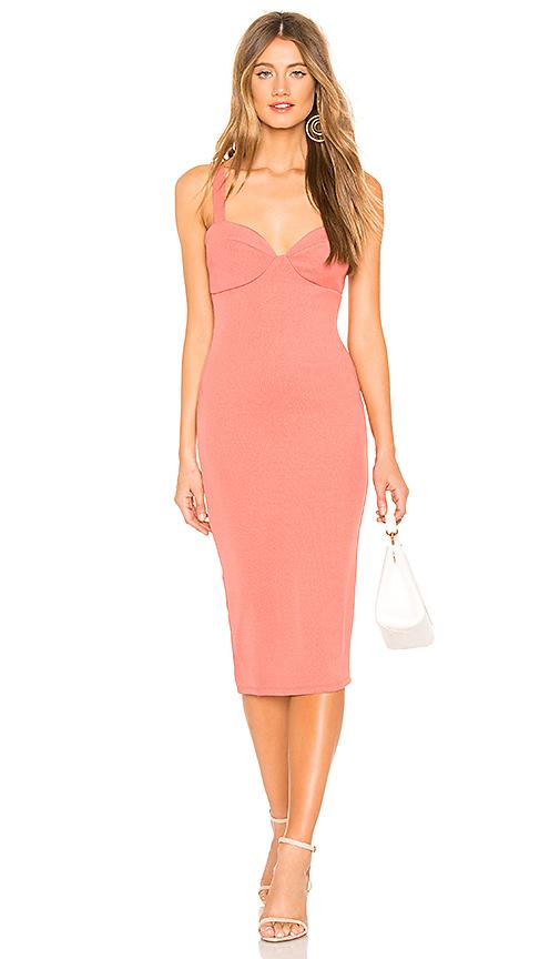 2881417a9e55 Privacy Please Peyton Midi Dress in Coral