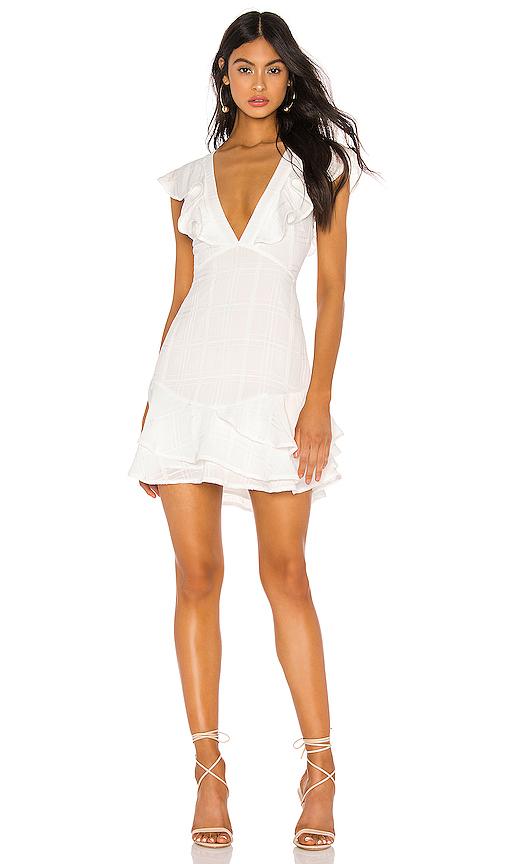 bfc9e1a5efb Privacy Please Monarch Mini Dress In White.