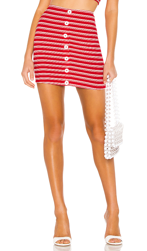6060854e57f24c Red PRIVACY PLEASE Pacifico Mini Skirt in Red. - size M (also in  XXS,XS,S,L,XL) 2 (Xs) on COOLS