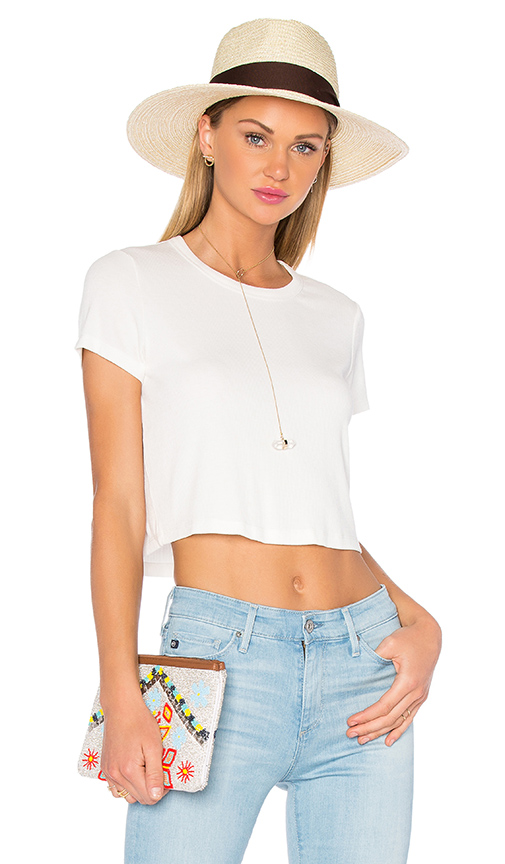 Privacy Please Linton Tee in Ivory
