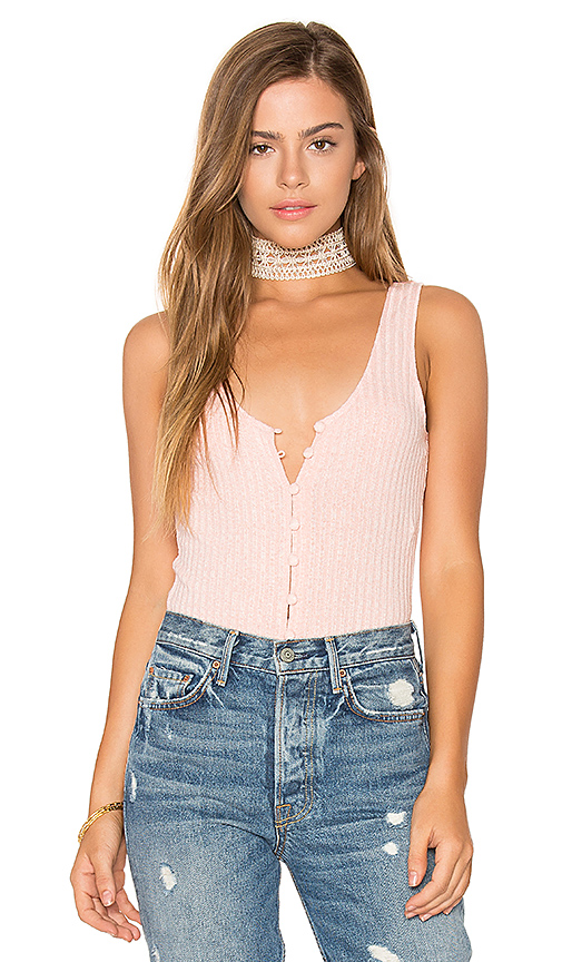 Privacy Please Gyle Bodysuit in Pink
