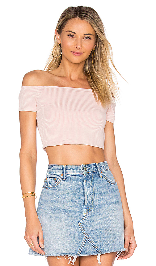 Privacy Please x REVOLVE Macy Crop Top in Pink