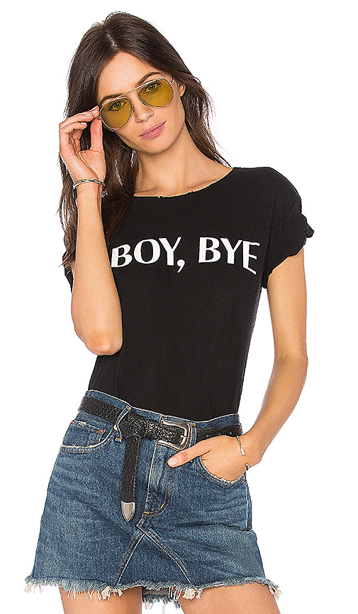 Private Party Boy Bye Tee in Black