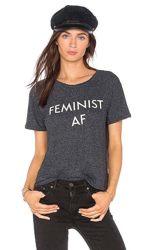 Private Party Feminist AF Tee in Charcoal