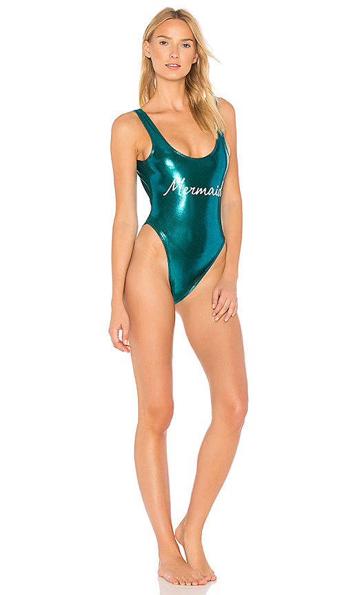 Private Party Mermaid One Piece in Teal