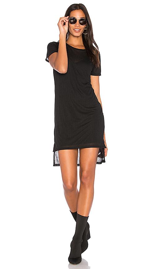 Project Social T Stanley Step Hem Dress with Slip in Black