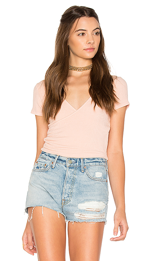 Project Social T Sparrow Crop Top in Peach